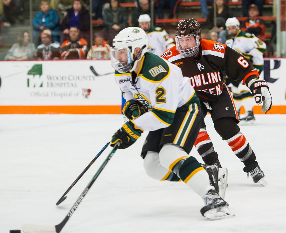 Falcons' McLain, Baylis honored by WCHA
